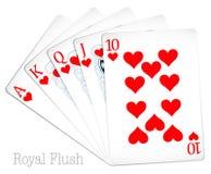 Royal flush Stock Photography