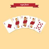 Royal flush poker Royalty Free Stock Photo