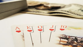Royal flush in Poker Stock Images