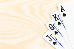 Royal flush poker playing cards Stock Image