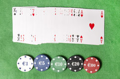 Royal Flush in poker Stock Photography
