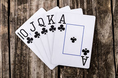 Royal Flush - Poker Stock Photos