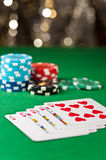 Royal flush or royal straight flush Royalty Free Stock Photos