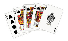 Royal flush spade Stock Photo