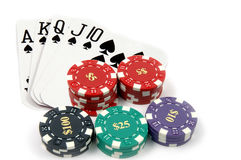 Royal Flush Spades Royalty Free Stock Image