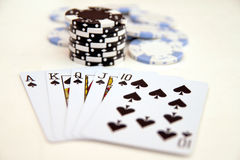 Royal Flush Spades Stock Photos