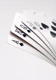 Royal flush of spades. Royal flush of spade on white background royalty free stock images