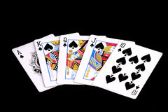 Free Royal Flush Spades Stock Photo - 4396590