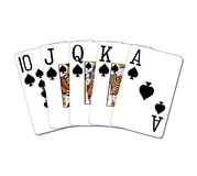 Royal flush spades Stock Photos