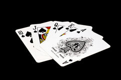 Royal Flush of Spades Stock Photo