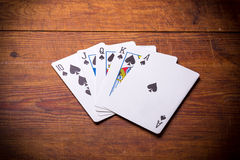Royal Flush spades Stock Image