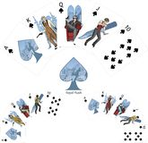 Royal Flush Spades poker winning combination Mafia Stock Image