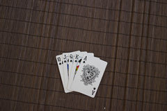 Royal Flush in Spades royalty free stock photo