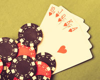 The Royal Flush Stock Images