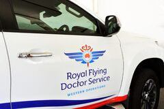 Free Royal Flying Doctor Service Of Australia Vehicle Stock Photography - 214058162