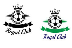 Royal football or soccer club symbol Stock Image