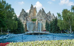 Royal Fountain and Wonder Mountain in Canada's Wonderland Royalty Free Stock Images