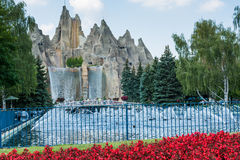 Royal Fountain and Wonder Mountain in Canada's Wonderland Royalty Free Stock Photography