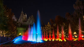Royal Fountain and Wonder Mountain in Canada's Wonderland Stock Image
