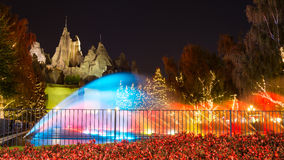 Royal Fountain and Wonder Mountain in Canada's Wonderland Royalty Free Stock Photos