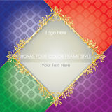 ROYAL FOUR COLOR FRAME STYLE. The piece is full of Thai art Royalty Free Stock Photos
