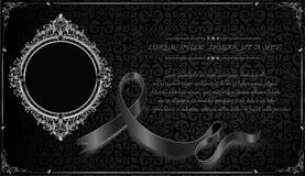 Royal frame on black pattern background, Vintage photo frame on drake background, antique. Golden ornament Royalty Free Stock Photo