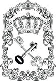 Royal Frame Crown And Keys. Royalty Free Stock Photos