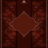 Royal frame with damask ornament Royalty Free Stock Photography