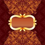 Royal frame with damask ornament Royalty Free Stock Photos