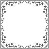 Royal frame with floral ornament. Royal frame with elegant ornament. Stylish vintage frame can be used for greeting card, anniversary and more designs Royalty Free Stock Images
