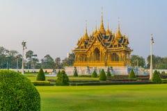 Royal funeral pyre of King Bhumibol of Thailand. Royal funeral pyre of King Bhumibol within Dusit Palace in Bangkok, Thailand royalty free stock photo