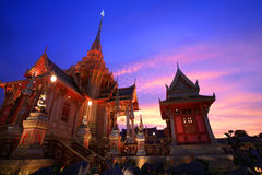 Royal funeral pyre at twilight in Bangkok Stock Photos