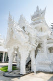 Royal funeral pyre at white temple Royalty Free Stock Images