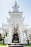 Royal funeral pyre at white temple Royalty Free Stock Photography