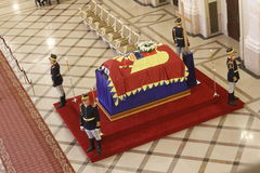 Royal funeral of Queen Anne of Romania Stock Images