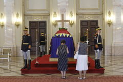 Royal funeral of Queen Anne of Romania Stock Photo