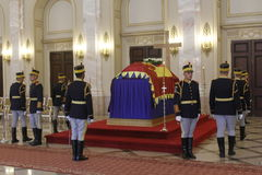 Royal funeral of Queen Anne of Romania Royalty Free Stock Images