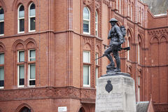 Royal Fusilier. LONDON, UK - JUNE 23: Royal Fusiliers war memorial, by Albert Toft, in Chancery Lane. June 23, 2015 in London Royalty Free Stock Photo