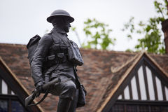 Royal Fusilier. LONDON, UK - JUNE 23: Profile shot of the Royal Fusiliers war memorial, by Albert Toft, in Chancery Lane. June 23, 2015 in London Royalty Free Stock Photography