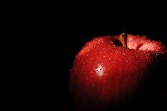 Royal Gala apple on black Stock Photos