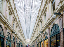 Royal Galleries of Saint Hubert in Brussel. View on Royal Galleries of Saint Hubert in Brussels Royalty Free Stock Image