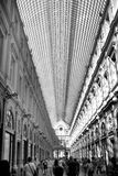 Royal Gallery Brussels. The Galeries Royales Saint-Hubert or Koninklijke Sint-Hubertusgalerijen is a glazed shopping arcade in Brussels that preceded other Stock Photos