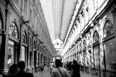 Royal Gallery Brussels. The Galeries Royales Saint-Hubert or Koninklijke Sint-Hubertusgalerijen is a glazed shopping arcade in Brussels that preceded other Royalty Free Stock Image