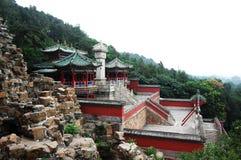 Royal garden. Chinese imperial's garden on a mountain royalty free stock photo