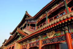 Royal garden architecture in China Royalty Free Stock Image