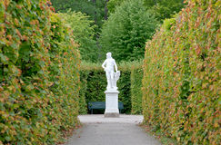 The royal garden of Drottningholms Palace Royalty Free Stock Images