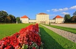 The royal garden at the Nymphenburg Palace Royalty Free Stock Photos