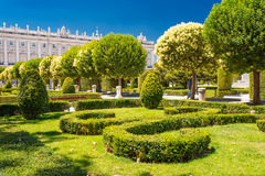 Royal Gardens in Madrid Royalty Free Stock Photo