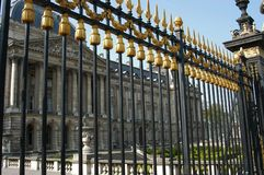 Royal gate. Gate of Palace du Roi in Brussels, Belgium stock images