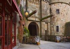 Royal gate Mont-Saint-Michel. Royal gate Mont-Saint-Michel winter day Royalty Free Stock Image